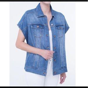 Liverpool Cocoon Jean Jacket Vest New XS/S
